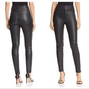 NWOT Equipment Lamb Leather High Rise Skinny Pants